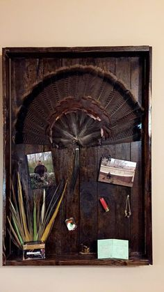Turkey Fan Mount With The Plaque Shaped Like A Mouth Call