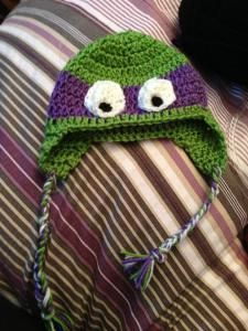 Ninja turtle hat crochet