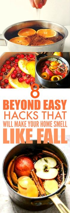 These 8 smell hacks are THE BEST! I'm so happy I found these GREAT tips! Now I can make my home smell like Fall and the holidays! I'm SO pinning for later!