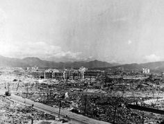 80-G-373264: Atomic Bomb on Hiroshima, August 6, 1945. Bomb damage to Hiroshima, Japan. Photograph released, October 14, 1945. U.S. Navy Photograph, now in the collections of the National Archives. (2015/12/08).