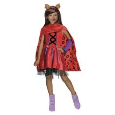 Scary Tales Little Dead Riding Wolf Clawdeen Halloween Costume