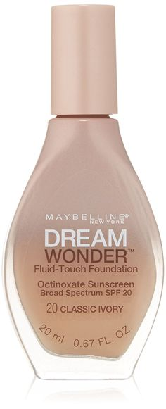 Amazon.com : Maybelline New York Dream Wonder Fluid-Touch Foundation, Classic Ivory, 0.67 Fluid Ounce : Beauty