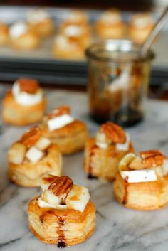 Baked Brie, Pear & Pecan Bites from unsophisticook.com on foodiecrush.com
