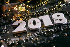 Black Elegant Happy New Year 2018 Bg Image