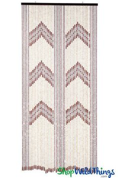 """Wooden Bead Curtain - """"Dynasty"""" - 35"""" x 78"""" - 52 Strands (Extra Coverage)"""