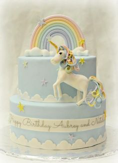 Unicorn birthday cake  project on Craftsy.com