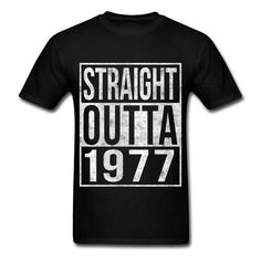 Bold vintage block urban style straight outta 1977 40th birthday t-shirt