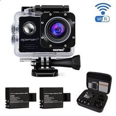 Action Camera 14MP FHD 1080P Wi-Fi Waterproof Sport Camera 2.0 Inch LCD Display,