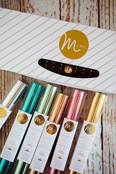 Gold Foiled Plant Sticks Using The Minc