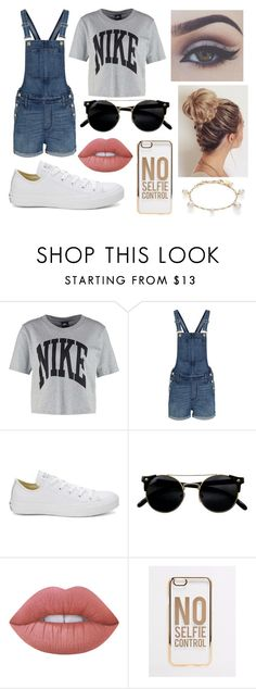 """""""Outfit#10"""" by rhiannonpsayer ❤ liked on Polyvore featuring NIKE, Madewell, Converse, Bellezza, Lime Crime, ASOS and Majorica"""