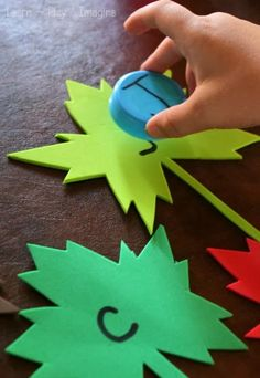Uppercase and lowercase match up -fall literacy activity for preschool