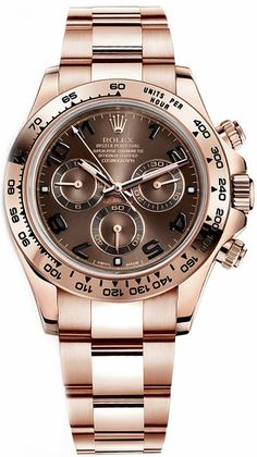 Rolex Cosmograph Daytona Brown Dial Men's Watch 116505