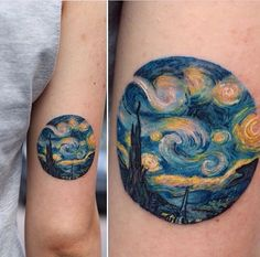 """Inspiring by the famous painting """"Starry Night"""". --> Lynda Ann"""