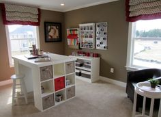 Craft Room On Pinterest Craft Rooms Craft Tables And Sewing Rooms