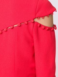 Prabal Gurung tonal button detail dress
