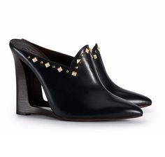 Visit Tory Burch to shop for Women's Clothing, Dresses, Designer Shoes, Handbags, Accessories & More. Navy Blue Wedges, Tory Burch, Mules Shoes, Pumps Heels, Wedge Mules, Flats, Moroccan Slippers, Trendy Shoes, Shoes