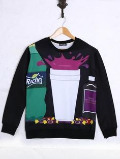 Men 3D Double Cup Graphic Sweatshirt