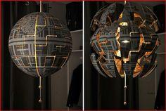 Star Wars Decor, Decoration Star Wars, Ikea Ps 2014 Lampe, Lampe Star Wars, Star Wars Zimmer, Star Wars Bedroom, Star Lamp, Woman Bedroom, Star Wars Party