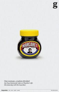 Marmite ma charakterystyczny smak; jedni go uwielbiają, inni nie są w stanie przełknąć. Projekt George'a Loisa, nie był reklamą wyborczą, reklamował okolicznościową wkładkę do Guardiana.