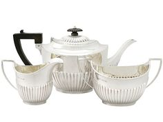 Sterling Silver Three Piece Tea Service - Queen Anne Style - Antique George V  SKU: A3749 Price  GBP £1,395.00  http://www.acsilver.co.uk/shop/pc/Sterling-Silver-Three-Piece-Tea-Service-Queen-Anne-Style-Antique-George-V-67p5430.htm