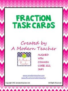 32 Fraction Task Cards; perfect for 2nd $2.50