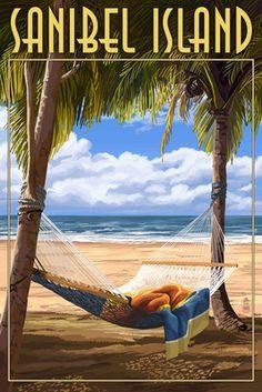 Key West, Florida - Hammock Scene - Lantern Press Artwork (Art Print Available), Multi Key West Florida, Florida Keys, Florida Beaches, Islamorada Florida, Florida Travel, Fl Keys, Beach Travel, Sanibel Florida, Clearwater Florida