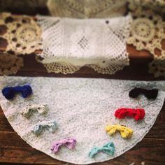 Crochet Bow Clip by MaidenLongIsland on Etsy, $8.00