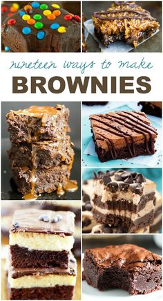 These brownie recipes are the best ever. If you have a sweet tooth like me, you will love this!