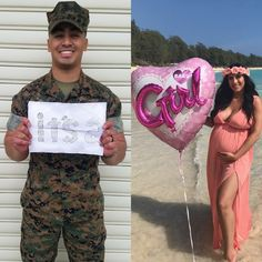 Military Pregnancy Announcement, Pregnancy Announcement To Husband, Pregnacy Announcement, Baby Reveal Photos, Baby Name Reveal, Pregnancy Gender Reveal, Surprise Pregnancy, Military Baby Pictures, Military Couples