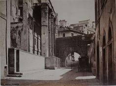 Via Bonella and arch Pantani - Forum of Augustus circa The street no longer exists but the arch is still there. The other side of the arch is the current intersection of Via Baccina & Via Tor de' Conti War Photography, The Other Side, Old Photos, Rome, Arch, Street, Artwork, Image, Cities