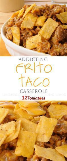 Frito corn chips are one of our favorite junk/snack foods and we knew that the way to take this casserole to the (guilty) next level was to include them with our beef, beans and chiles. This dish is loaded with flavor and we can't wait to make it agai