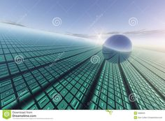 Sustainable energy for all with a 3d vector grid background | Royalty Free Stock Images: Grid Technology Background