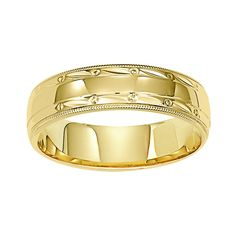 Zales Ladies 6.0mm Cross and Wave Wedding Band in 10K Two-Tone Gold V6RHo