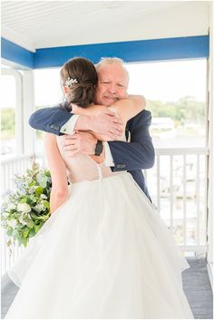 dad cries hugging bride during first look in New Jersey   Summertime Crystal Point Yacht Club photographed by Idalia Photography Associate Team, NJ wedding photographers. Planning an elegant summer wedding? Find inspiration here! #IdaliaPhotography #CrystalPointYachtClub #SummerWedding Nj Wedding Venues, Wedding Morning, Church Ceremony, Bridesmaid Robes, Bridal Robes, Yacht Club, Wedding Gallery, Romantic Couples, Intimate Weddings