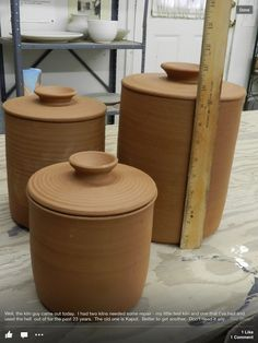 Pottery Canisters