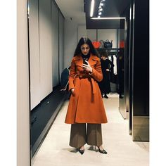 29 Perfect Looks To Copy This February #refinery29  http://www.refinery29.com/2016/02/102325/new-outfit-ideas-february-2016#slide-12  Forget the notion that going big on bottom means you need to stay small on top. Here, double the volume simply means double the fun.Céline coat....