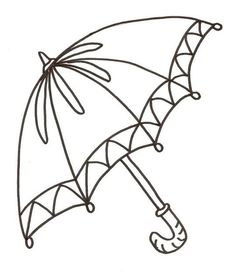 Printable Umbrella Coloring Page | Kids Coloring Pages | Pinterest ...