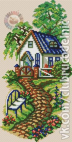 1 million+ Stunning Free Images to Use Anywhere Cross Stitch House, Cross Stitch Kitchen, Cross Stitch Bird, Cross Stitch Charts, Cross Stitch Designs, Cross Stitching, Cross Stitch Patterns, Hand Embroidery Designs, Ribbon Embroidery