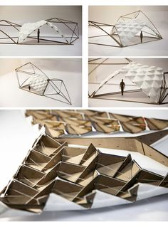 Tangrammatic Hut - Harry Wei moulding materials to recreate other shapes