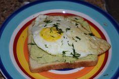 breakfast avocado and egg