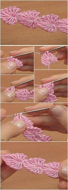 Crochet Mini Hearts String – Easy Tutorial by leona