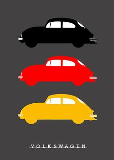 German Icon - Vw Beetle Poster by Mark Rogan. All posters are professionally printed, packaged, and shipped within 3 - 4 business days. Choose from multiple sizes and hundreds of frame and mat options. Minimalist Home Interior, Minimalist Decor, Minimalist Kitchen, Minimalist Living, Modern Minimalist, Vw Bugs, Vw Super Beetle, Beetle Bug, Volkswagen Golf Mk2