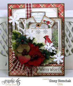 Time to Flourish Christmas Card with Graphic 45 - Scrapbook.com