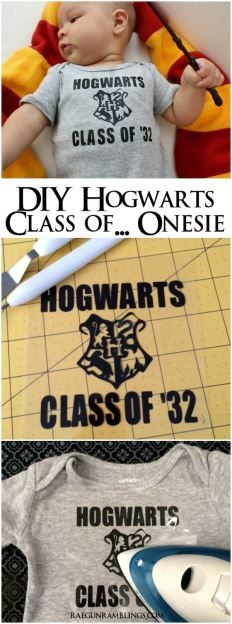 How to make your own DIY Hogwarts Class of '32 (or other year) onesie. Tutorial at Rae GUn Ramblings