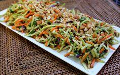 Thai peanut broccoli slaw