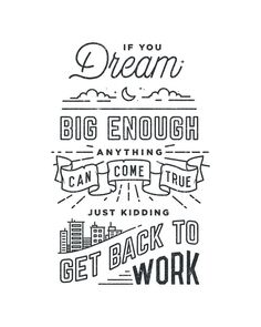 Great lettering work by Drew Ellis, a graphic designer based in Virginia. More lettering inspiration via Dribbble Typography Quotes, Typography Letters, Typography Prints, The Words, Inspiration Typographie, Get Back To Work, Grafik Design, Quote Prints, Graphic Design Inspiration