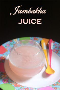 Jambakka Juice Recipe - Rose Apple Juice Recipe