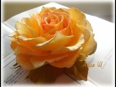 МК Как сделать розу с плоским основанием.
