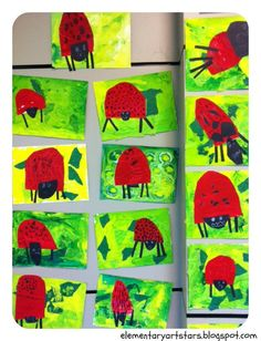 Art Stars: Kindergarten and 1st Grade: Eric Carle Projects-So lovely and colorful for any ladybug lover!