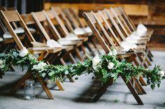 garland aisle decor